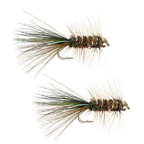 Umpqua Tungsten Thin Mint OliveBrownBlack Fly Fishing Streamers Leeches Multi-Packs