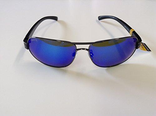 Calcutta RG1BM Regulator Sunglasses Black Wire FrameBlue Mirror Lens
