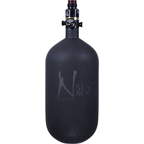 Ninja Paintball 774500 SL2 Carbon Fiber Cerakote Paintball Tank with Pro V2 Regulator Black