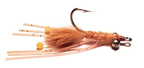 Merrimack River Flies Mantis Shrimp Fly Lead Eyes Heavy Size 4 Tan
