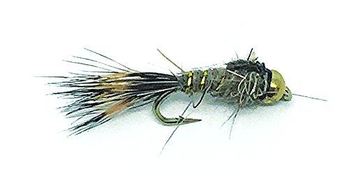 Creative Angler Gold Bead Hares Ear Fly Fishing Flies 1 Dozen Flies