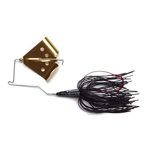 MegaStrike Cavitron Buzzbait 38-Ounce Gold Blade Black Skirt