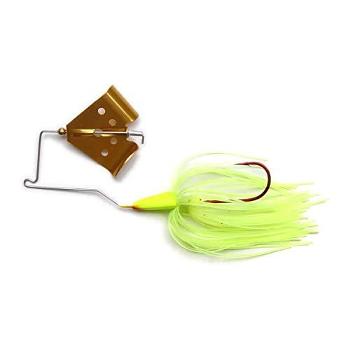 MegaStrike Cavitron Buzzbait 38-Ounce Gold Blade Chart Skirt