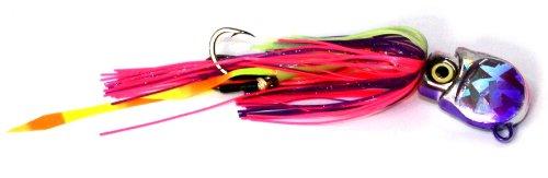 Braid 10 Hook Thumper Squid Jig 10 12-Ounce PurplePink