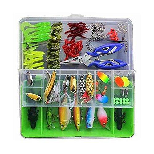 Fishing Lures Fishing Tackle LotsPortable Fun Fishing Baits Kit Set With Free Tackle BoxFor Freshwater Trout Bass Salmon