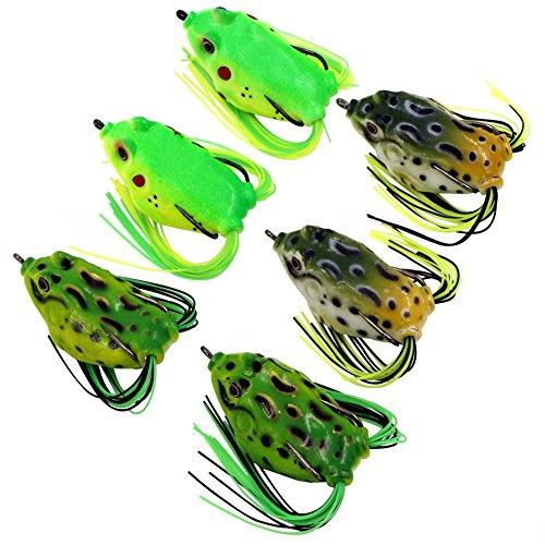 Threemart Fishing Lures For FreshwaterTopwater Frog Crankbait Tackle Bass Soft Swimbait Lures Crankbaits Hard Bait 6pcslot