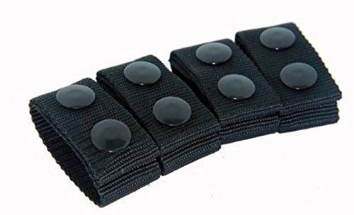 Bianchi Patroltek 8006 Black Belt Keeper 2 Snap 4-Pack