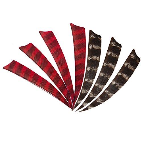 IRQ Shield Archery Feathers 4 inch Turkey Fletching Right Wing DIY Arrow Fletches 50100 Pack Color B