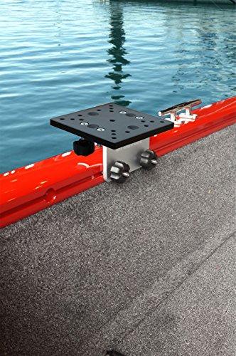 Brocraft Universal Aluminum Downrigger Bracket for Tracker Boat Versatrack System  90 degree Lund Sport Track