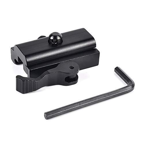 360 Tactical QD Quick Detach Bipod Adapter Quick Detach Cam Lock QD Bipod Sling Adapter for Picatinny Weaver Rails Mount Accessories for Harris Bipod