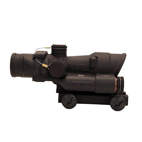 Trijicon TA02-D-100391 ACOG 4x32mm LED Illuminatedx 40mm Green223 Chevron Reticle with TA51 Mount Black