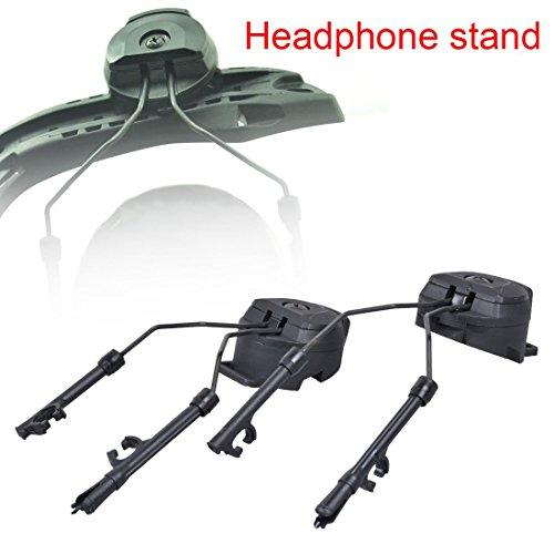 Drmus Outdoor Peltor Comtac III ARC AdapterTactical Helmet Rail Suspension Headphones Bracket Headset Support