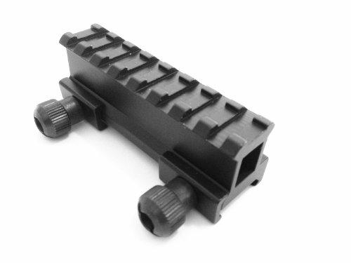Tactical 1 Compact Weaver-picatinny High Profile See Through Riser Rail Riflescope Sight