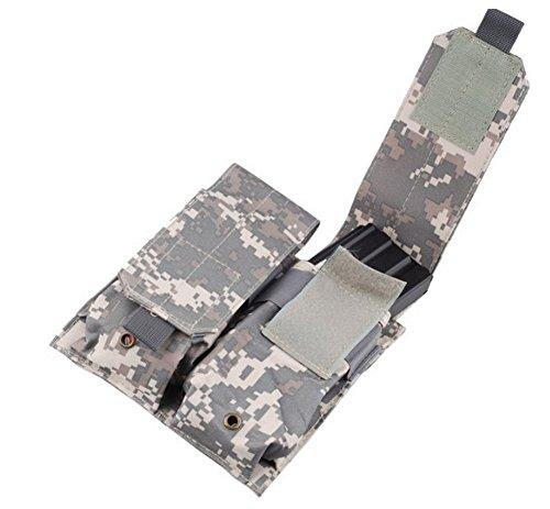 Tactical M4M16 Dual Double Mag Magazine Pouch ACU Digital Camo