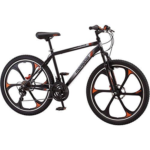 21-speed Shimano Revo twist shifters 26 Mens Mack Mag Wheel Bike Black and Orange