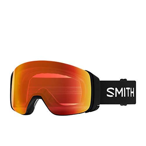 SMITH Optics 4D Mag Adult Snowmobile Goggles - BlackChromapop Everyday Red MirrorOne Size