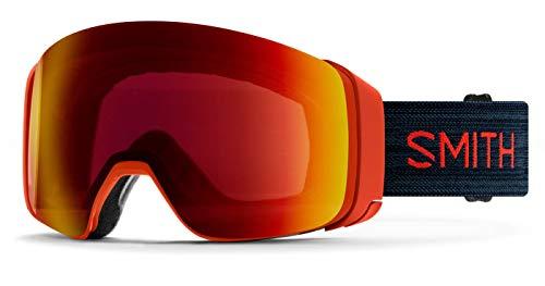 SMITH Optics 4D Mag Adult Snowmobile Goggles - Red RockChromapop Sun Red MirrorOne Size