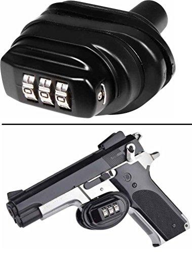 Ultimate Arms Gear Number Combination Secure Steel Zinc Bodied Firearm Guns Protective Safety Trigger Block Locks Fits All Taurus Models Frames Series Pistol Handgun Revolver Rifle Shotgun
