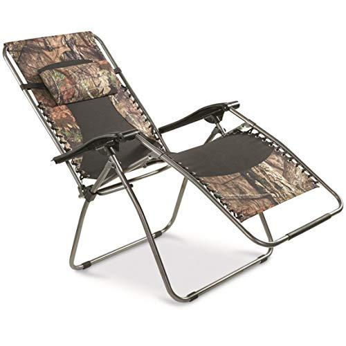 Guide Gear Oversized Zero-Gravity Chair 500 lb Capacity Mossy Oak Break-Up Country