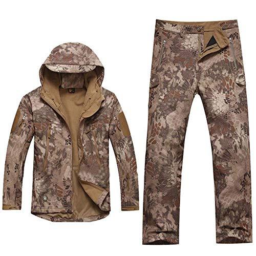 Camouflage Warm Hunting Suit Plus Velvet Jacket Fishing Suit Winter Warm Jacket Mens Hoodie Outdoor Fishing