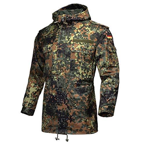MLMHLMR Camouflage Windbreaker Mens Multi-Pocket Windproof Shirt Jungle Camouflage Field Jacket Hunting Suit
