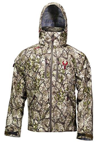 Badlands Alpha Camo Jacket for Men - Lightweight Waterproof Packable Camouflage Hunting Rain Jacket