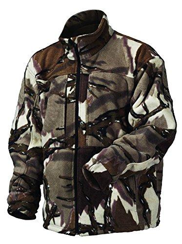 Predator Camo Mens Stealth Fleece Jacket Brown Deception Large