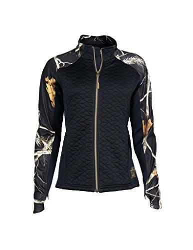 Rocky Womens Quilt-Knit Jacket Realtree Black Camouflage Medium
