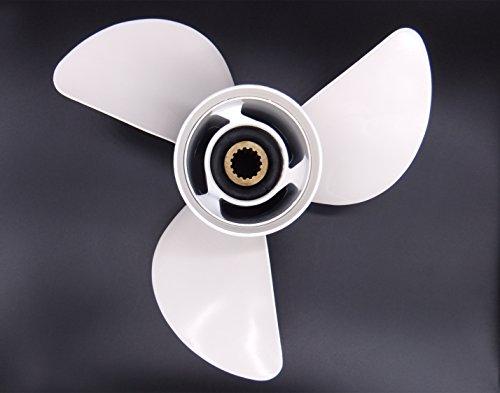 6E5-45941-00-EL Aluminum Alloy Propeller 13x19-K for Yamaha 50HP 60HP 70HP 75HP 80HP 85HP 90P 100HP 115HP 130HP 140HP Outboard Motors 13 x 19 K