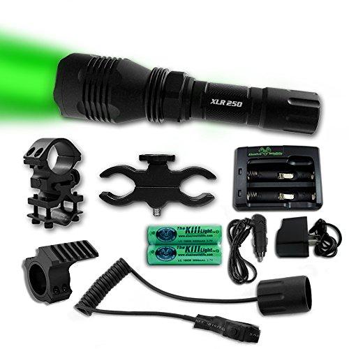 The Kill Light XLR250 Gun Mounted Hunting Light Green Triple Mode OnOff Switch