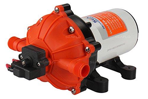 Seaflo 12v Water Pressure Diaphragm Pump 20 Lmin 55 Gpm 60 Psi - Caravanrvboatmarine