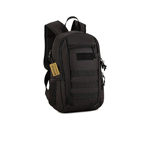 Huntvp 12L Mini Daypack Military MOLLE Backpack Rucksack Gear Tactical Assault Pack Student School Bag for Hunting Camping Trekking Travel