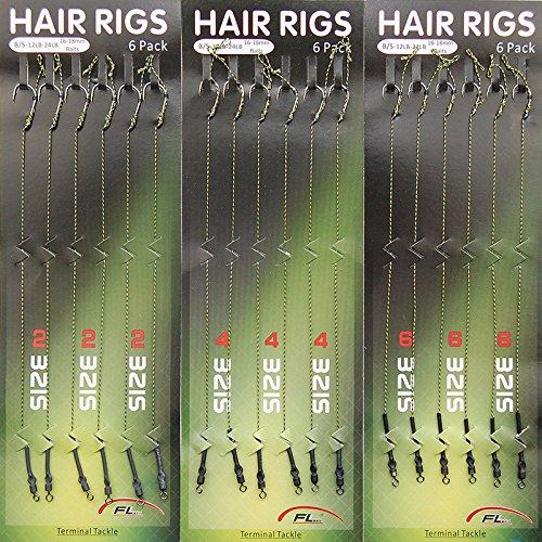JL Sport 18pcs Carp Fishing Hair Rigs Braided Thread 8340 High Carbon Steel Hook Swivel Boilies Carp Rigs Carp Fishing Accessories