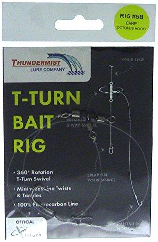 Thundermist Lure Company 5B Carp Rig with Octopus Hook T-Turn Bait Rig Clear