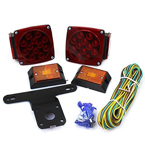 Voyager Tools LED Submersible Trailer Light KIT Heavy Duty Underwater Light KIT
