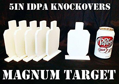 5in IDPA Knockover Shooting Targets - 38in Steel Targets - 6pc Metal Target Set