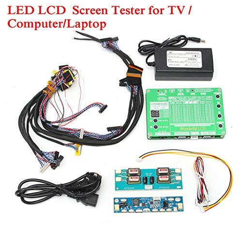 TOYECOTA - Laptop LCDLED Test Tool Kit Panel Screen Tester 14PCS Lvds Cables  Inverter