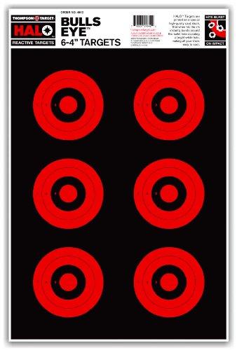 Halo Bullseye 6-4 Inch - Reactive Splatter Gun Range Shooting Targets 125x19 Inch 20 Pack Free Stand