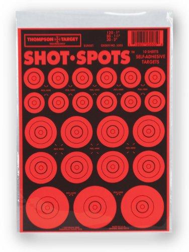 Shot Spots Orange- Self Adhesive Peel Stick Gun Range Shooting Targets 6 x 9 Inches 10 pack