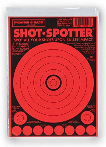 Shot Spotter Orange - Self Adhesive Peel Stick Gun Range Shooting Targets 6 x 9 Inches 10 pack
