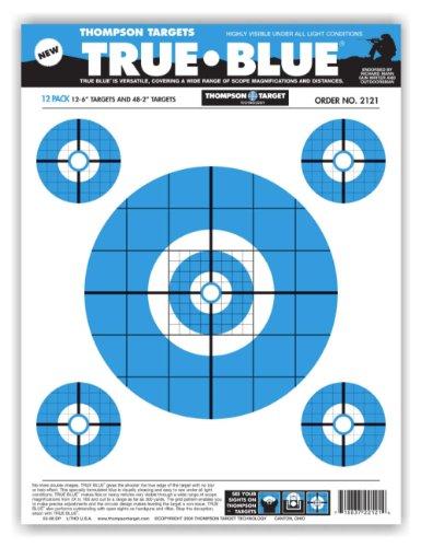 True Blue - Paper Gun Range Shooting Targets 9x12 Inch 50 Pack