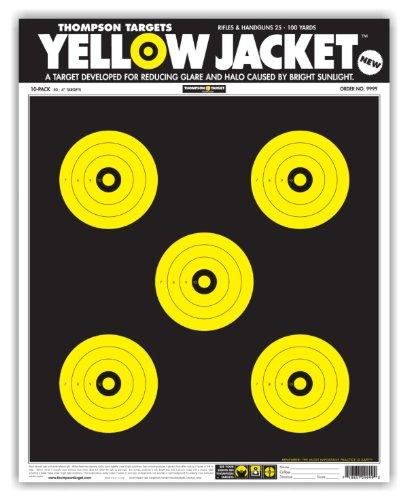 Yellow Jacket - Paper Gun Range Shooting Targets 15x19 Inch 50 Pack Free Stand