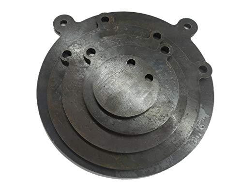 US Metal Works AR500 38 Steel Gong Target Set 6810 Inch