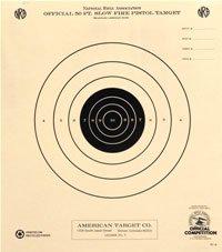 50 Foot Slow Fire Pistol Target Official NRA Target B-2 100