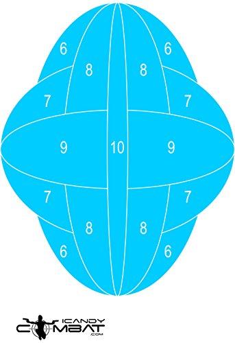 Geometric Blue Shooting Paper Practice Targets
