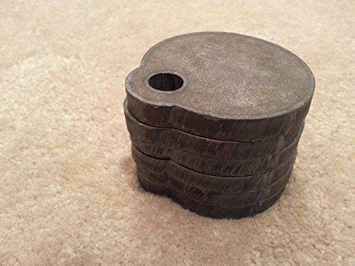 Set of 6 3 AR500 Steel Gong Shooting Target 38 Single Hole From Bullseye Metals