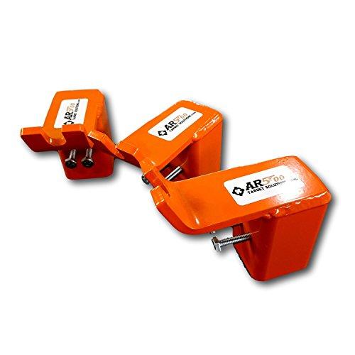 Three AR500 Steel Target T-Post Mount Kits