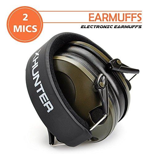 Xhunter Foldable Shooting Hunting Electronic Earmuffs W Input Jack Ear Muffs