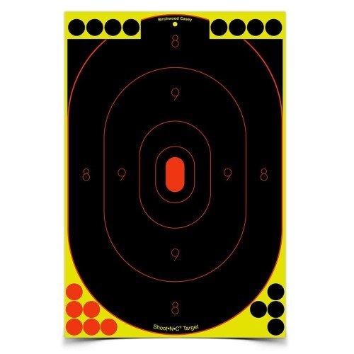 Birchwood Casey Shoot-N-C Silhouette Target Pack of 12 12 x 18-Inch Black