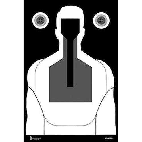100 Pcs St Cloud Mn Pd Reverse Bt-5 Qualification Target Size 23 X 35 Black Gray